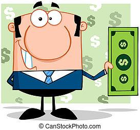 direttore, dollaro, affari, presa a terra
