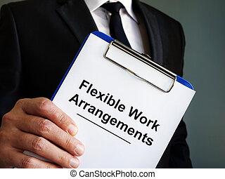 direttore, flessibile, arrangements., lavoro, presa a terra