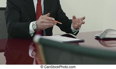 direttore, in, corporativo, riunione