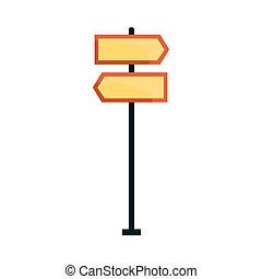 direzionale, vettore, strada, illustrazione, segni
