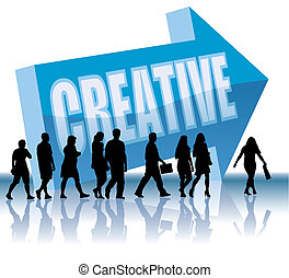direzione, -, creativo