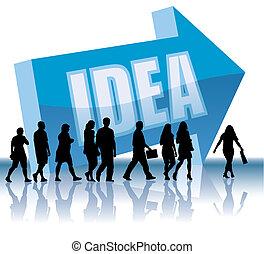 direzione, -, idea