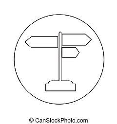 direzione, illustrazione, segno, disegno, strada, icona