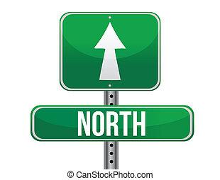 direzione, nord, strada, geografico, segno