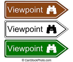 direzione, punto vista, segno