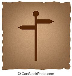 direzione, segno strada