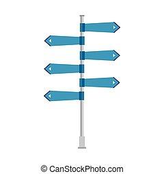 direzione, strada, segno freccia