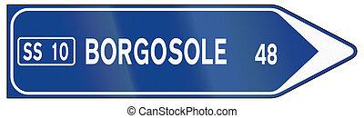 direzione, usato, italia, -, segno, non-urbano, strada