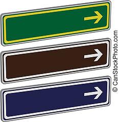 direzione, vettore, segni