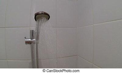 dirigé, tuyau eau, ruisseau, figure, douche, pov