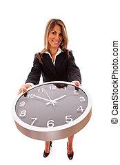diriger, business, temps