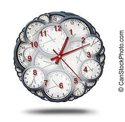 diriger, multitâche, temps