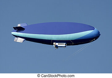 Dirigible - A large blue dirigible with room for text.