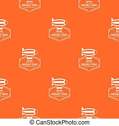Dirigible pattern vector orange for any web design best