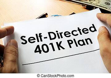 dirigido, plan, 401k, sí mismo