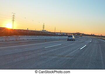 dirigindo, rodovia
