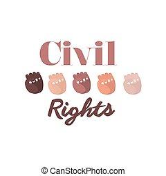diritti, civile, disegno