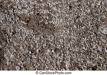 Dirt and stone surface