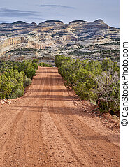 dirt backcountry road in the Dinosaur National Monument, CO