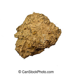 Dirt Clods Isolated on a white background
