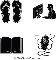 dirt, infection, hygiene and other web icon in black style.work, education, microbes icons in set collection.