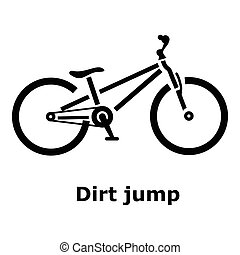 Dirt jump bike icon, simple style