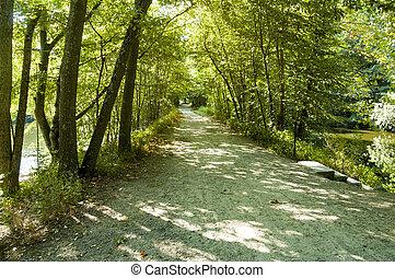 Dirt path straightaway
