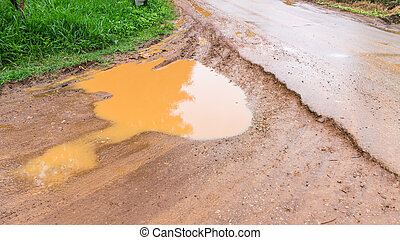 dirt road after the rain