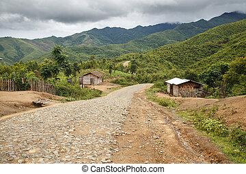 Dirt Road, Chin State, Myanmar