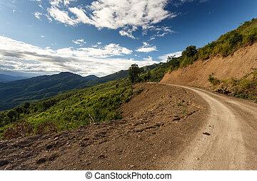 Dirt Road in Chin State, Myanmar