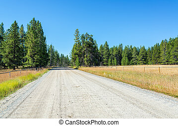 Dirt Road in Rural Wyoming