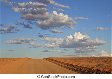 Dirt road in the outback of Australia