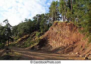 Dirt road near mount with trees, Goynuk, Turkey