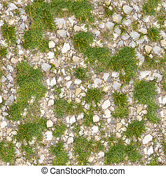 Dirt Road Seamless Texture. - Dirt Road with Grass. Seamless...