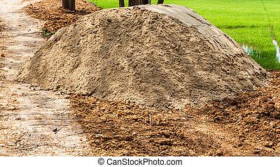 Dirt road through