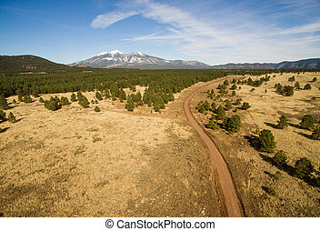 Dirt Road to Humphreys Peak Arizona Southwest United States