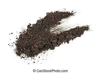 Dirt, soil pile isolated on white background.
