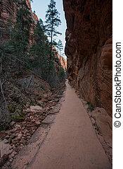 Dirt Trail Through Refrigerator Canyon