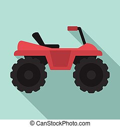 Dirtbike icon, flat style - Dirtbike icon. Flat illustration...