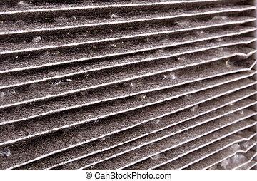 Dirty air filter car - A dirty air filter car. Repair shop.
