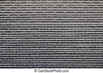 Dirty Air Filter - Closeup background of a dirty gray home...