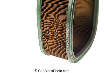 Dirty air filter - Dirty old air filter on a white...