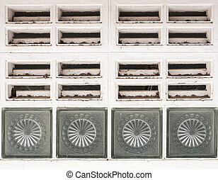 Dirty air ventilation grille. - Dirty air ventilation grille...