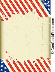 Dirty american flag super background