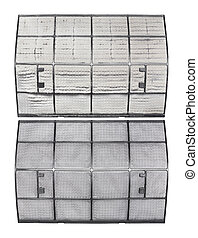 Dirty and clean air conditioner filter