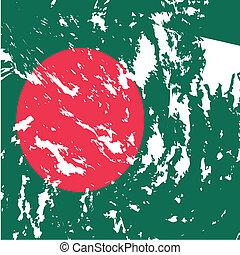 Bangladesh - dirty Bangladesh flag background