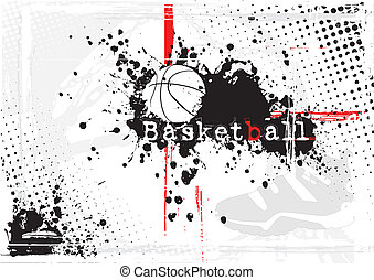 dirty basketball background - basketball ball on the dirty...