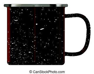 Dirty Brown Tin Cup