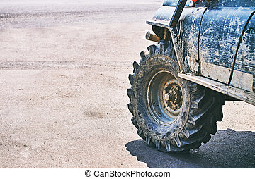 Dirty brutal off-road SUV vehicle