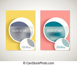Dirty circles with text on brochure for your ideas. Presentation, cover book or annual report